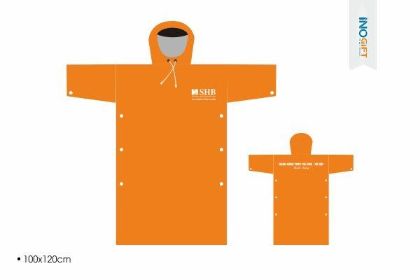 Công ty in logo áo mưa cánh dơi giá rẻ làm quà tặng ngân hàng tại tphcm