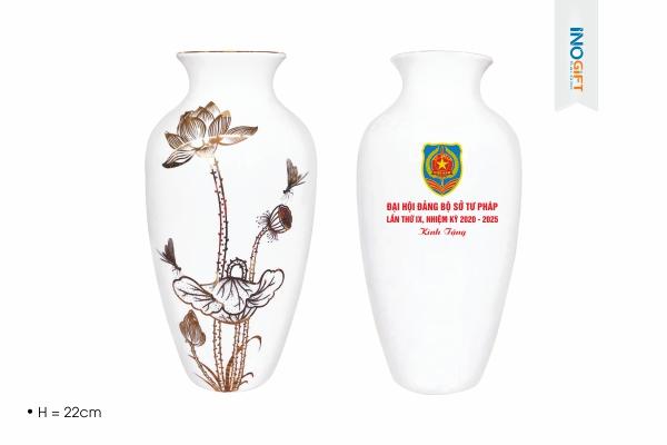 Lọ Hoa Gốm Sứ Bát Tràng - Mẫu quà tặng 30/4