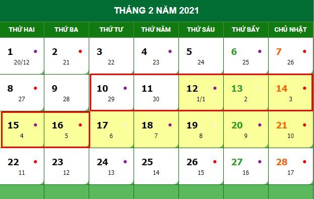 [ Giải đáp ] lịch nghỉ tết nguyên đán của cán bộ công chức nhà nước 2021